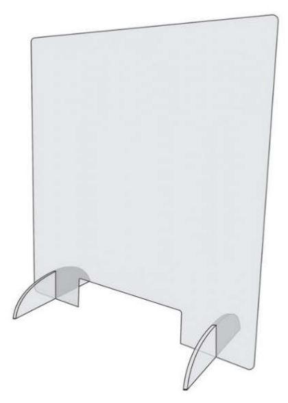 Afschermwand in plexiglas