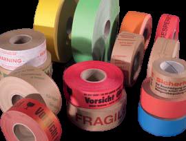 Gepersonaliseerde gummed paper tape Rovapack